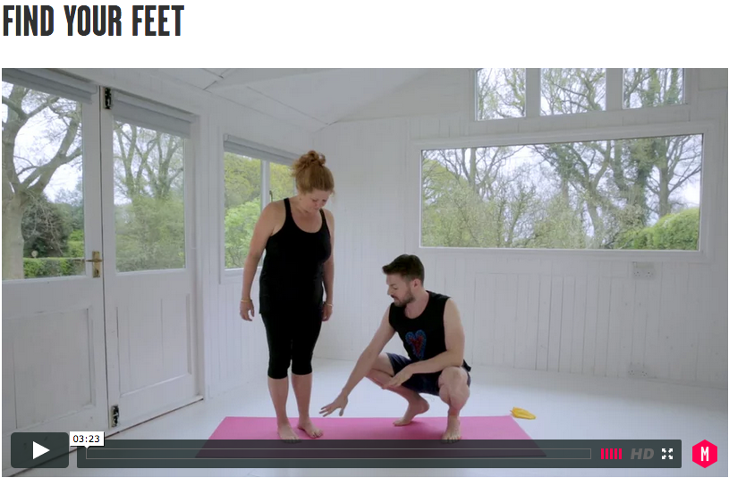 Watch Andrews first tutoiral explains the importance of how you use your feet in yoga.