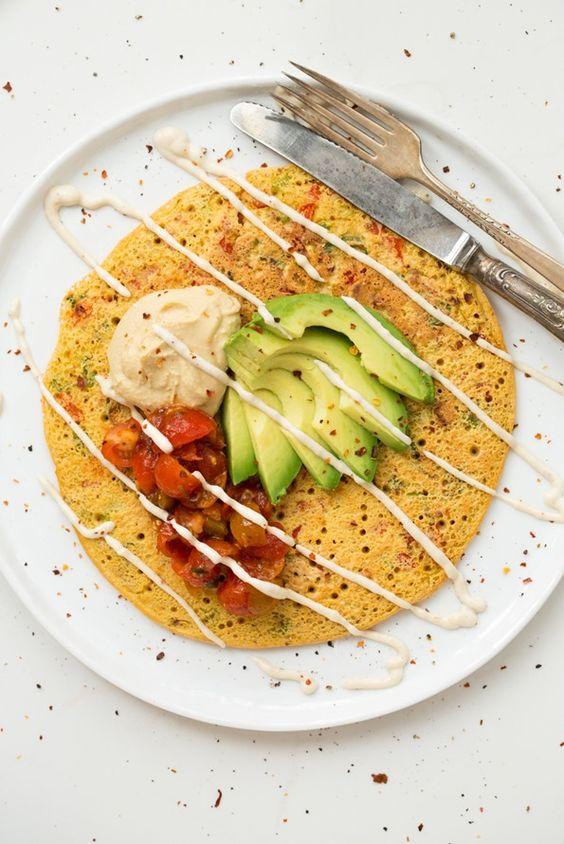 pancake day chickpea savoury