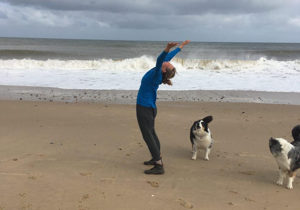 yoga, ocean, sea