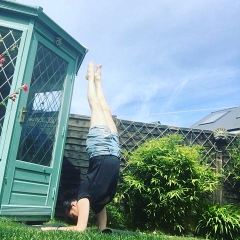 Andrea Kwiatkowski, yoga anywhere