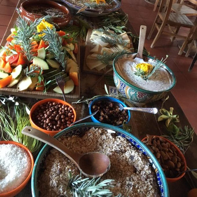 Organic Food on retreat