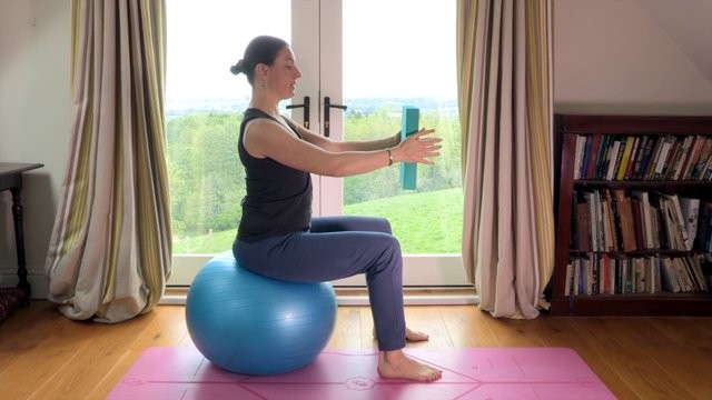 Post C-Section Recovery with Fitness Ball