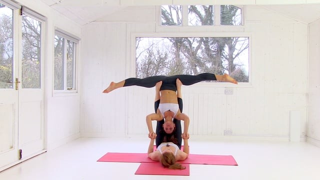 Accomplished Acro 9: Cartwheel into Straddle Bat