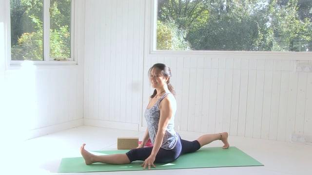 Devotion: Practising Hanumanasana